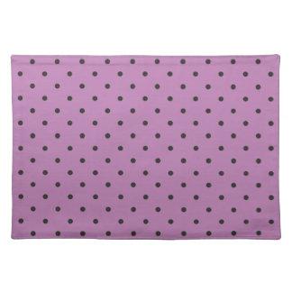 Fifties Style Purple Polka Dot Place Mat