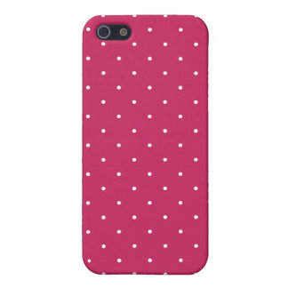 Fifties Style Raspberry Red Polka Dot Case For iPhone 5/5S