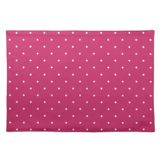 Fifties Style Raspberry Red Polka Dot Placemat