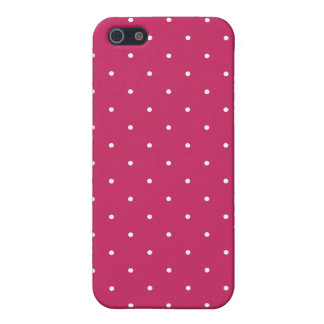 Fifties Style Raspberry Red Polka Dot iPhone 5/5S Cases