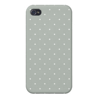 Fifties Style Silver Gray Polka Dot Cover For iPhone 4
