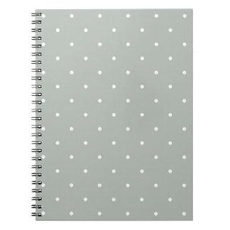Fifties Style Silver Gray Polka Dot Notepad Notebooks