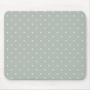 Fifties Style Silver Grey Polka Dot Mouse Mat