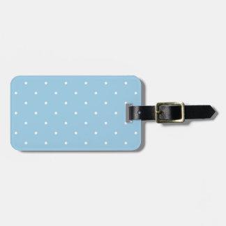 Fifties Style Sky Blue Polka Dot Bag Tag
