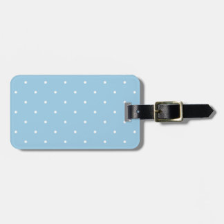 Fifties Style Sky Blue Polka Dot Luggage Tag
