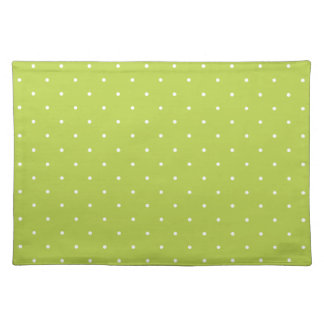 Fifties Style Tender Shoots Green Polka Dot Placemat