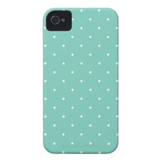 Fifties Style Turquoise Polka Dot iPhone Case