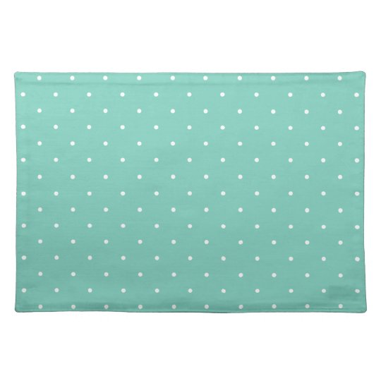Fifties Style Turquoise Polka Dot Placemats