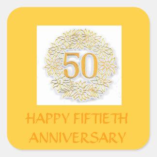 FIFTIETH ANNIVERSARY GOLDEN STICKERS