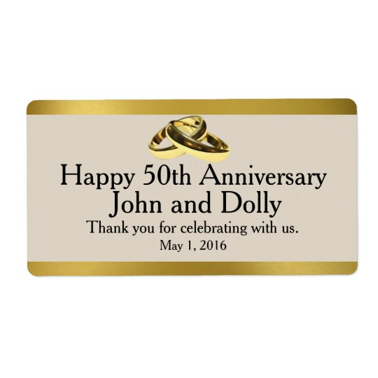 Fiftieth Anniversary Mini Wine Labels