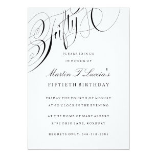 Fiftieth Birthday Party Invitation