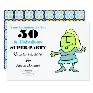 Fifty And Fabulous 50th Anniversary Invitation