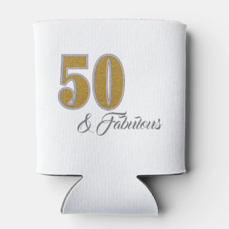 Fifty and Fabulous Celebration Can Cooler