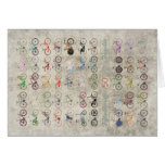 Fifty Bicycles Greeting Card