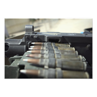Fifty-caliber machine gun rounds photo print
