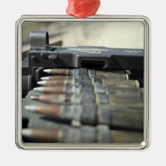 Fifty-caliber machine gun rounds Silver-Colored square decoration