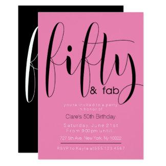 Fifty & Fab, 50th Birthday Invitations