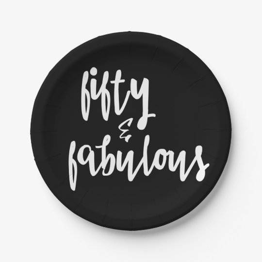 Fifty & Fabulous - 50th Birthday Paper Plates