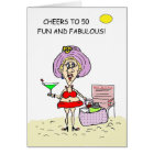 FIFTY, FUN AND FABULOUS HOT MAMA BIRTHDAY CARD