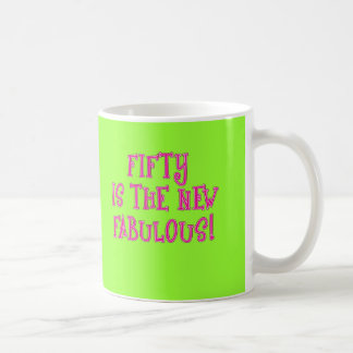 Fifty is the New Fabulous Products Basic White Mug