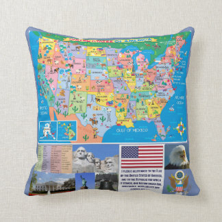Fifty Nifty United States Pillow