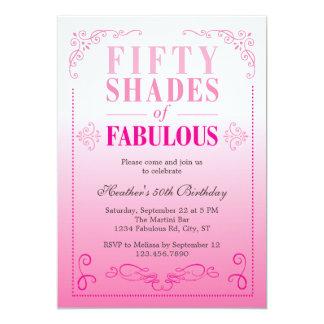 Fifty Shades of Fabulous Birthday Invitation