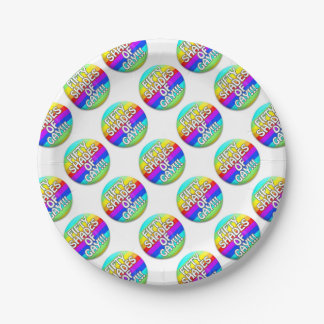 FIFTY SHADES OF GAY MULTI SHADE 7 INCH PAPER PLATE