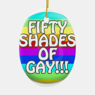 FIFTY SHADES OF GAY MULTI SHADE CERAMIC OVAL DECORATION