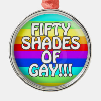 FIFTY SHADES OF GAY MULTI SHADE CHRISTMAS ORNAMENT
