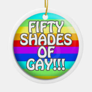 FIFTY SHADES OF GAY MULTI SHADE ROUND CERAMIC DECORATION