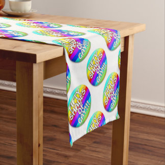 FIFTY SHADES OF GAY MULTI SHADE SHORT TABLE RUNNER