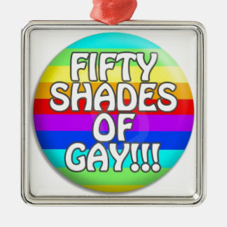 FIFTY SHADES OF GAY MULTI SHADE Silver-Colored SQUARE DECORATION