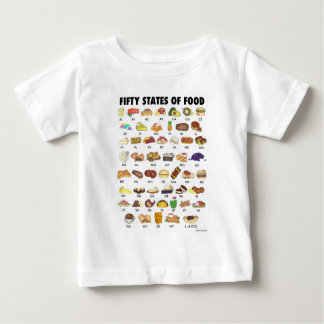 FIFTY STATES OF FOOD United States America USA Art Baby T-Shirt