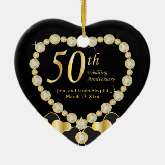 Fifty Wedding Anniversary Christmas Ornament
