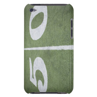 Fifty yard line on sports field barely there iPod covers