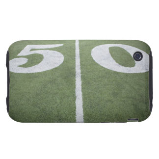 Fifty yard line on sports field iPhone 3 tough cover