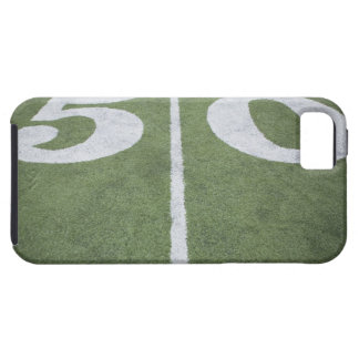 Fifty yard line on sports field case for the iPhone 5