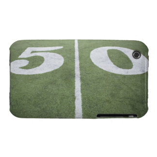 Fifty yard line on sports field iPhone 3 Case-Mate case