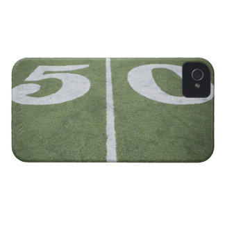 Fifty yard line on sports field iPhone 4 Case-Mate case