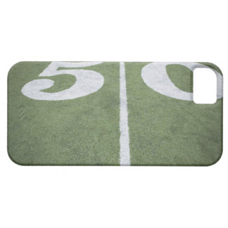 Fifty yard line on sports field iPhone 5 case
