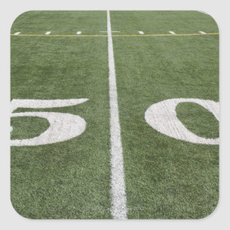 Fifty yard line square sticker