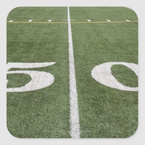 Fifty yard line square stickers