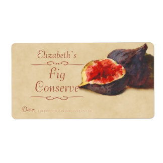 Fig Canning label