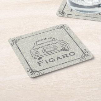 Figaro Car Line Art Customisable Paper Coaster