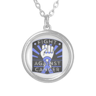 Fight Against Stomach Cancer Round Pendant Necklace