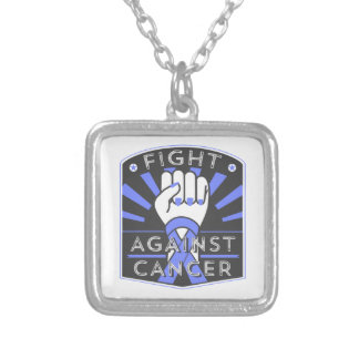 Fight Against Stomach Cancer Square Pendant Necklace