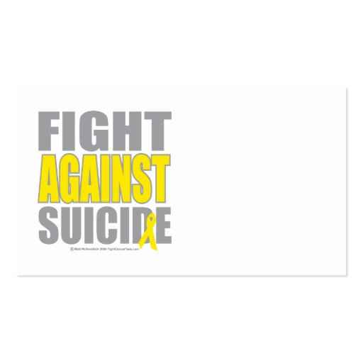 Fight Against Suicide Business Card Templates