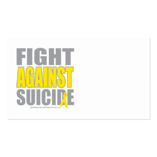 Fight Against Suicide Pack Of Standard Business Cards