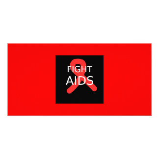Fight AIDS Photo Card Template