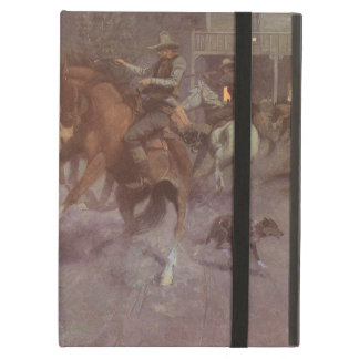 Fight at the Roundup Saloon by EW Gollings iPad Air Covers
